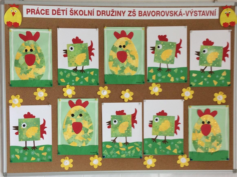 f42d64e97037 Nástěnky s dětmi každý měsíc dělá a připravuje paní vychovatelka Jarmila  Chánova. Aktuální obrázky jsou na téma Jaro.